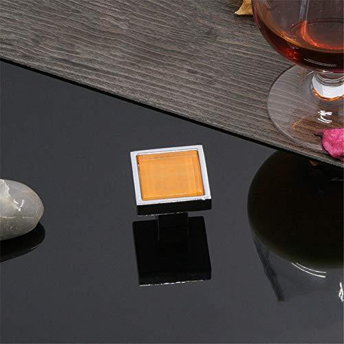InChengGouFouX helder kristal glas deur knoppen 10-delige moderne zinklegering kleur vierkant handvat transparant kristallen knop kast dressoir kast keuken kast lade handvat voor thuis decoreren