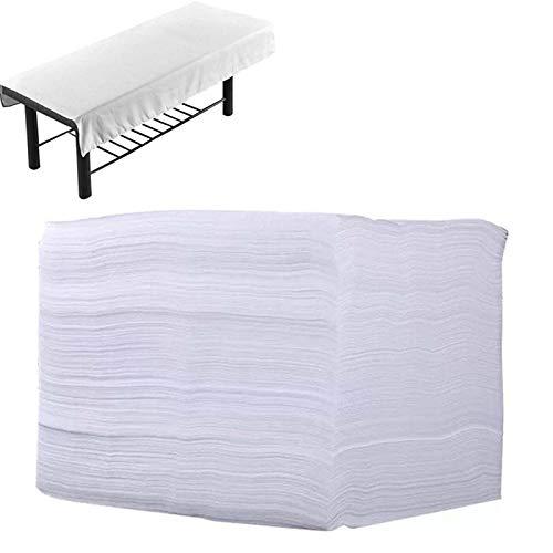 QIZIFAFA Einweg-Bettdecken, 10-Teilige Massagetischdecken, Weiße Schönheitsdecken...
