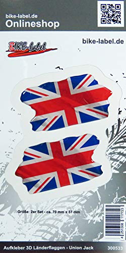 Bike Label 300533N sticker 3D landenvlaggen Union Jack England 70 x 37 mm