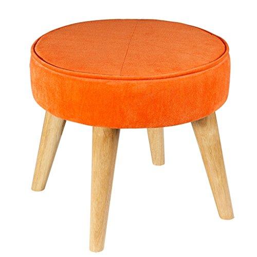YUJIE kruk van massief hout, voetensteun, poef, salontafel, woonkamer, ottoman hoge elastische spons, vier poten hoog 36 x 40 cm, gewicht 3 kg