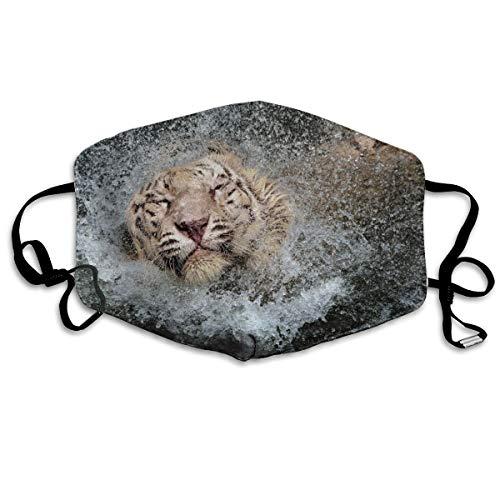 Gotas de agua para la cabeza, animales húmedos, tigre, gatos, humor, unisex, tubo de cobertura completa, bandanas, protección UV, polaina, diadema