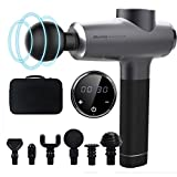 Massage Gun Percussion Muscle Massager Gun Cordless Electric Handheld 20 Speed Levels Deep Tissue Massage Gun with 6 Massage Heads for Body Relaxation Pain Relief