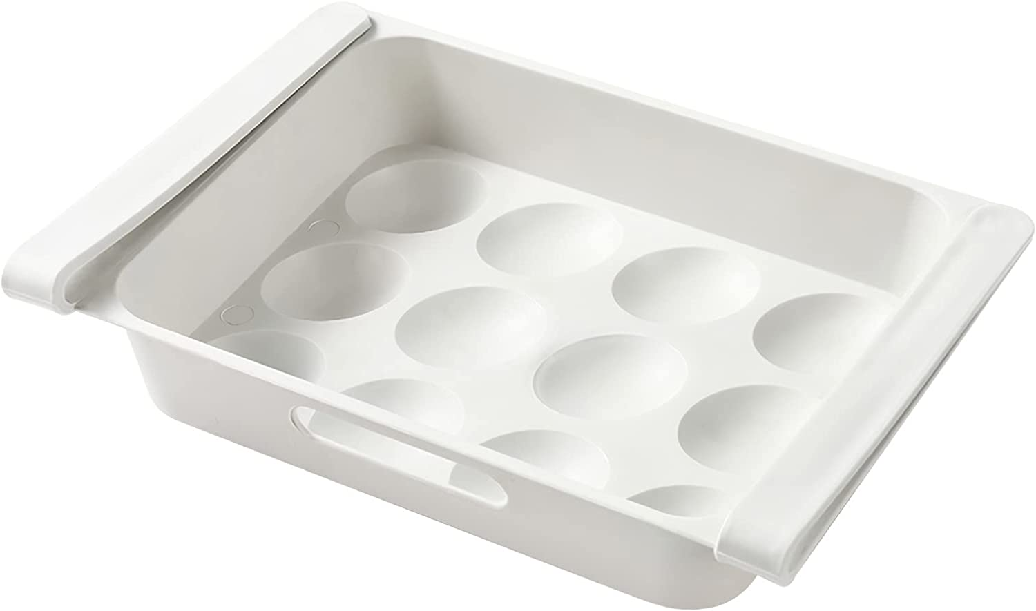 YUNYODA 12 Grids Egg Drawer Easy to Clean Egg Storage Container
