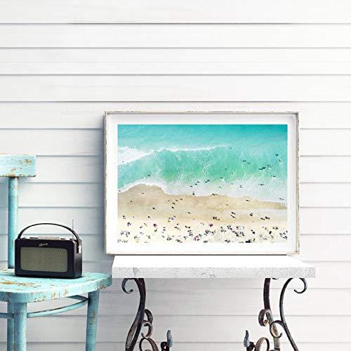 zgwxp77 Pittura della Tela di Canapa della Parete costiera dell'Oceano del Manifesto della Spiaggia
