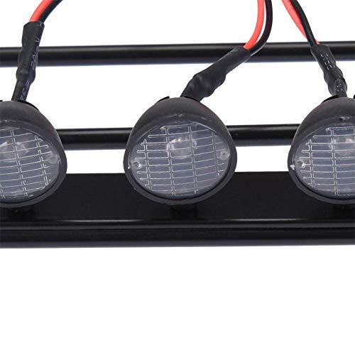 RC Auto Dach Gepäckträger Mit 4 Led-leuchten für D110 / Axial / SCX10 Jeep Wrangler Fernbedienung Autos