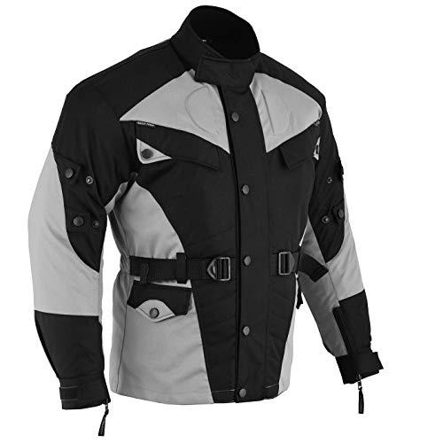 German-Wear Motorradjacke, Schwarz/Hellgrau, XL - 3