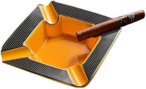 hyywmgx Cenicero de cerámica, cenicero para cigarros, Bandeja para la decoración de la Mesa de la Oficina en casa, cenicero de Regalo, ahumador, (Color: Amarillo, tamaño: 19,7 * 5 cm)
