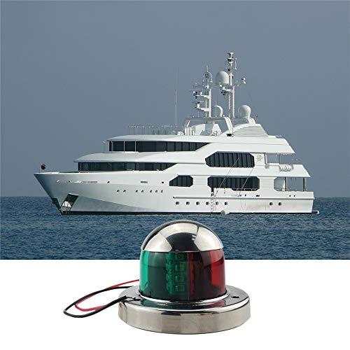 Verdelife Marine LED Navigationslicht 12V Marine, rote und grüne zweifarbige Edelstahllampe, Zubehörwerkzeug für Boote, geeignet zum Zeigen bei Nacht