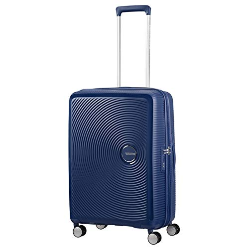 AMERICAN TOURISTER Soundbox - Spinner 55/20 Expandable Equipaje de mano, 55 cm, 35.5 liters, Azul (Midnight Navy)