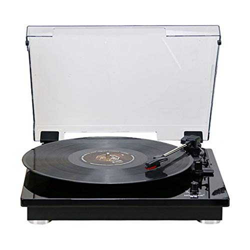Xu-music Bluetooth platenspeler, 3-speed  draagbare vinyl LP-speler stereo luidspreker Aux Input/RCA Line Out Vinyl platenspeler