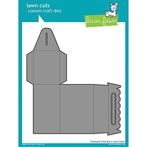 Lawn Fawn Lawn Cuts Custom Craft Die - Scalloped Treat Box (LF1232)