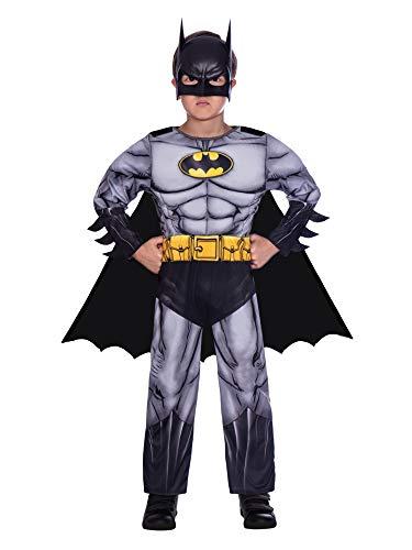 amscan 9906058EU Disfraz clásico de Batman Dark Knight de 4 a 6 años