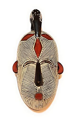 NOVARENA Afrikanische Kunst Kamerun Gabun-Fang Wandmasken und Skulpturen – Afrika Home Maske Dekor (1 Stück männliche 30,5 cm Songi Maske)