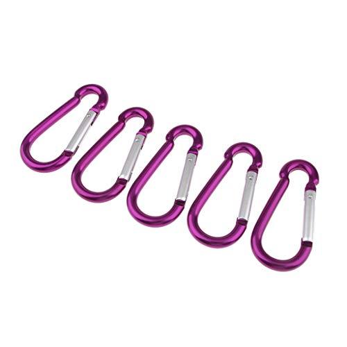 Homyl 5pcs Pince pour Chaîne Porte-clés Boucle Extérieure - Violet, 100 mm