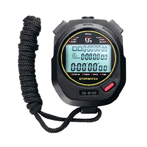 Yanhonin - Cronómetro deportivo 1 100 segundos, temporizador, cronómetro deportivo para entrenamiento en el terreno