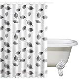 PROGARMENTS Duschvorhang Anti-Schimmel, Duschvorhänge 180x200cm Wasserdicht Shower Curtains Badevorhang mit 12 Duschvorhangringen Blattform