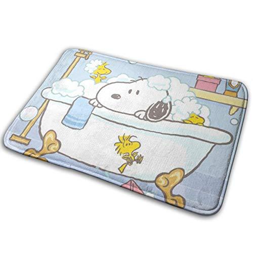 Duwamesva Doormat Soft Carpet Entrance Mat Stylish Snoopy Design for Patio, Front Door, Bathroom, Balcony
