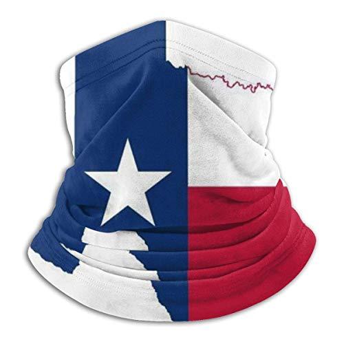 LENGDANU Bandanas con diseño de mapa de la bandera de Texas, bufanda de pasamontañas para el cuello, para hombres y mujeres, Color 1, M