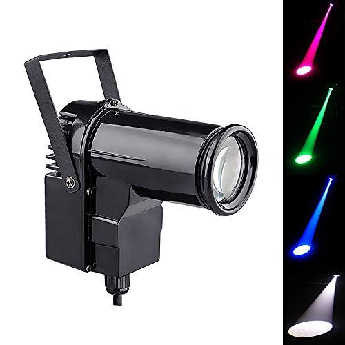 12W LED StrahlScheinwerfer,RGBW 4in1 Discokugel Strahler, Für Spiegelball DJ Disco Effekt Bühnenlicht Pinspot Lichteffekt