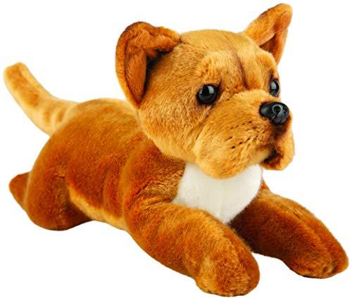 Suki Gifts 12148 Liegender Staffordshire Bull Terrier Hund Kuscheltier, mehrfarbig
