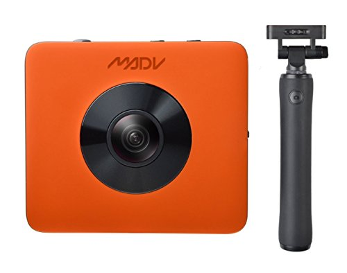 MADV XiaoMi Madventure 360 Camera, 4K Video, 24MP Photo, Waterproof, Selfie-Stick and Tripod Included