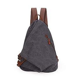 KL928 Canvas Vintage Backpack – Grand sac à dos décontracté Sac à dos de voyage en plein air Sacs à dos de randonnée…