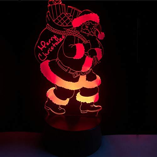 Suhang 3D LED USB-lamp kleurrijk gradient nachtlicht touchscreen afstandsbediening cadeau Vrolijk Kerstmis decoratie huis accessoires gadgets Touch Usb 7 Colors