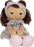 GUND Baby Toddler Doll Plush Brunette, Green Garden Dress, 8