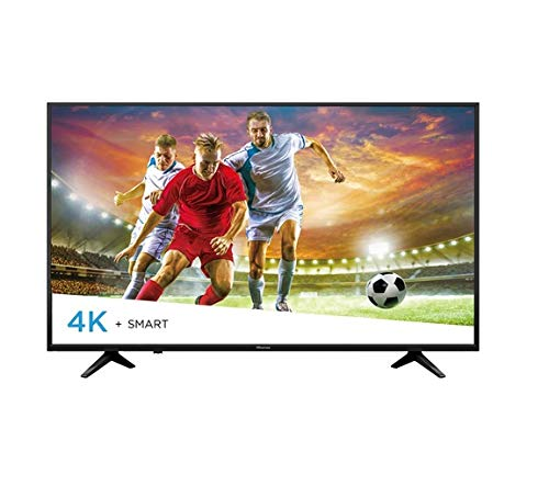 "Hisense 50H6E pantalla Smart TV LED 50"", 3840 x 2160 pixeles, ultra HD, 4k, HDMI USB, color negro"