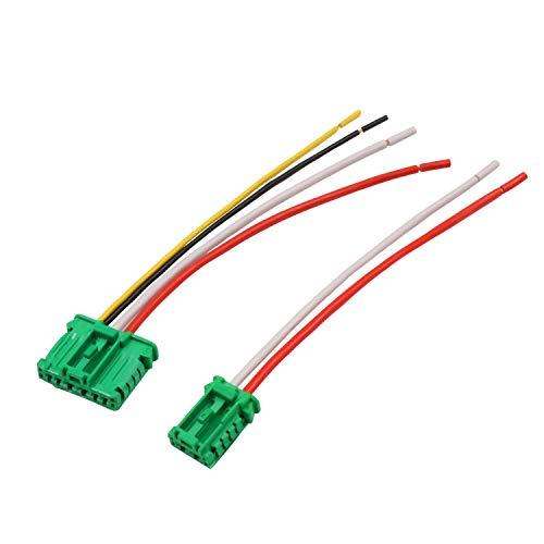 YAOPEI 2 Piezas Cableado Arnés Conector para Ventilador Resistencia 6441.L2