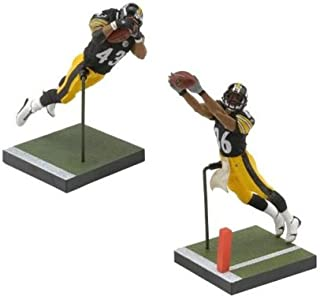 Troy Polamalu and Hines Ward Pittsburgh Steelers 6 Action Figures Exclusive NFL Superbowl Champs Set