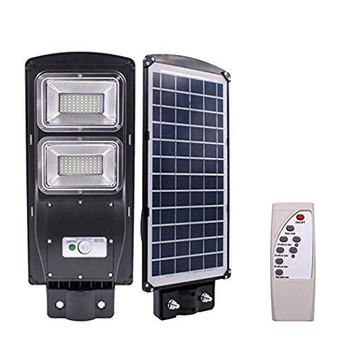 W&HH LED Straßenbeleuchtung, 60W 120-LED Solar Sensor Außenleuchte mit Lichtsteuerung und Radarsensor für Docks, Einfahrten, Hinterhöfe