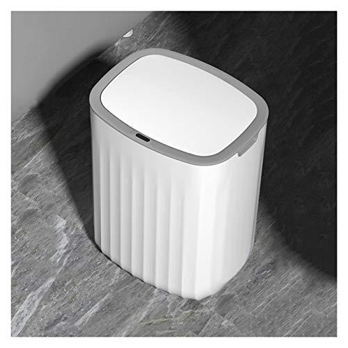 Cubos de Basura 3.1 Bote de basura doméstica de galones con tapa Simple Automatic Trauchless Basura de la basura de la postura de la inducción de los ovalados para la oficina de la sala de estar de la