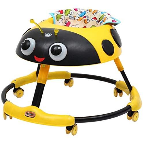 ZHANG Andador de Actividad Móvil Cute Ladybug,Andadores de Bebé Antivuelco Plegables Multifuncionales con Luz Musical para Niños Pequeños y Bebés