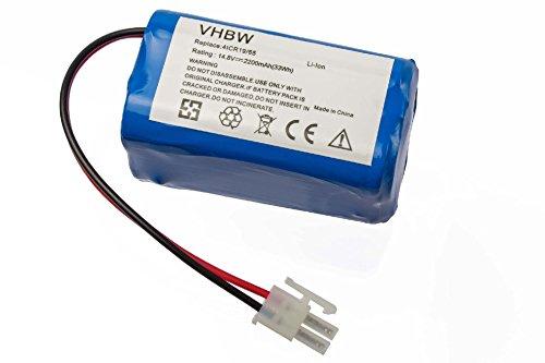 vhbw Akku passend für iLife A4, A4s, A6 Staubsauger Home Cleaner Heimroboter (2200mAh, 14.8V, Li-Ion)