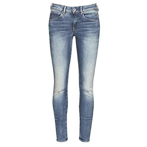 G-STAR RAW Damen Skinny Jeans Arc 3D Mid Waist Skinny, Blau (Medium Aged 8968-071), 34W / 32L
