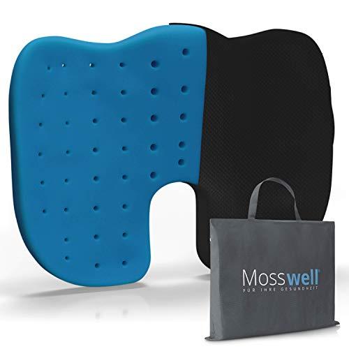 Mosswell® Ergonomisches Sitzkissen zur Druckentlastung | Perforiertes Steißbeinkissen für mehr Sitzkomfort auf dem Bürostuhl | Für Home Office geeignet