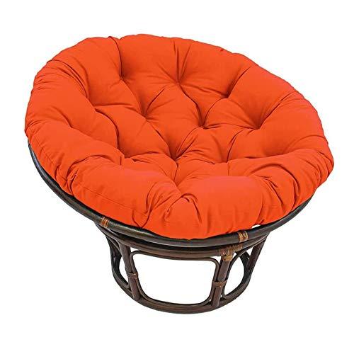 TDHLW Papasan - Cojín redondo para silla de exterior (silla no incluida), 140 x 140 cm