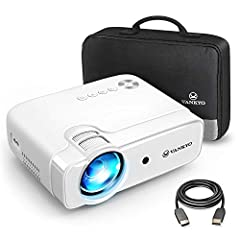 VANKYO Leisure 430 Mini Projector, 5000 Lumens Home Cinema Projector, Ondersteuning 1080P Full HD met 60000 uur LED, compatibel met TV Stick, HDMI, SD, AV, VGA, USB, PS4, X-Box, iOS/Android Smartphone Projector*