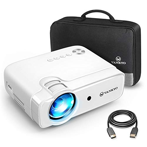 VANKYO Leisure 430 mini projector, 4500 lumen home cinema projector, ondersteunt 1080P Full HD project, compatibel met TV-stick, HDMI, SD, AV, VGA, USB, PS4, X-Box, iOS / Android smartphone projector