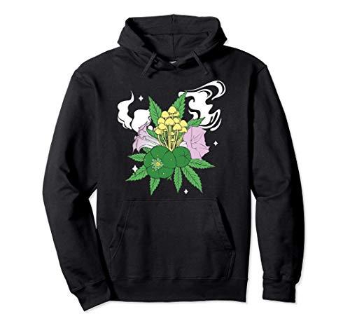 Cannabis Chrooms Opium Coca Psychoaktive Pflanzen Raucherin Pullover Hoodie