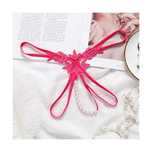 LASTARTS Massage Pearl Panties Short Thong Frauen Hot Sexual Massager Perlen Open T-Hose Sexy Dessous Bowknot Panties Sexy Thongs Knickers Briefs (Farbe : Six-Piece Set, Size : Freesize)