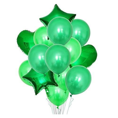JSJJARF Balloon 14Pcs Heart Star Foil Balloon Confetti Latex Balloons Wedding Party Decoration Kid Children Girl Boy Birthday ballons (Color : B07)