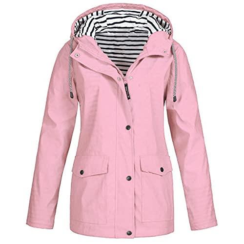 Women's Raincoats Windbreaker Plus Size Rain Jacket Waterproof Lightweight Vests Outdoor Hooded Trench Coats