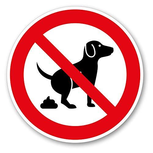 Hinweis-Aufkleber Hunde koten verboten I rund Ø 10 cm I Garten-Schild Verbotsaufkleber keine Hunde-Toilette Hundeklo I wetterfest I hin_572