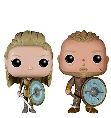 2 Piezas Pop Vikingos 177 # Ragnar Lothbrok 178 # Lagertha Figura De Acción Decoración Colección...