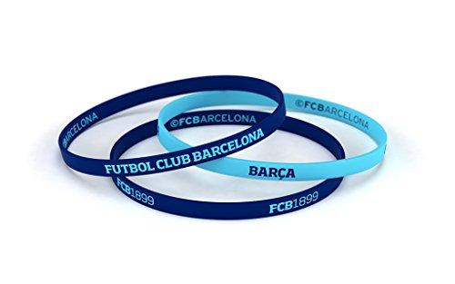 Pulsera Fútbol Club Barcelona Azul Celeste Estándar para Hombre | Pulsera Barça de silicona | Apoya al FCBarcelona con un producto oficial culé | FCB