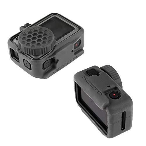 Linghuang Custodia Protettiva in Silicone per DJI Osmo Action Fotocamera Accessori con Copriobiettivo per DJI Osmo Action Camera
