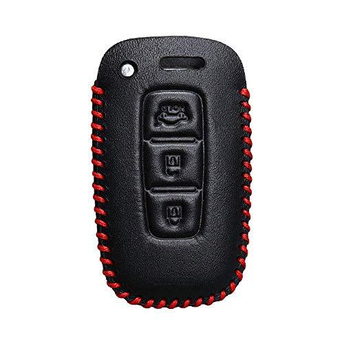 Carcasas para Llaves Smart Key Fob Case Cover Car Key Case Cover, para Hyundai I30 Ix45 Ix35 Sonata Tucson Santafe Verna Accesorios Llavero Bolsa Holder 3Button Red