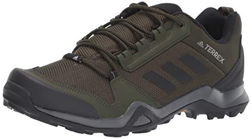 adidas outdoor Men's Terrex AX3 Hiking Boot, Night Cargo/Black/raw Khaki, 10 M US